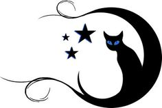 Cat moon star tattoo. By me - Moureen, my inspiration: http://pretty-cool-huh.deviantart.com