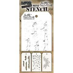New Gradient Dot Design Stencil Stampers Anonymous Tim Holtz Collection THS118