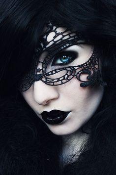 Gothic Mask Masquerade Masks Lace Mask Mardi Gras Mask Ball Mask Phantom of the Opera Masks - masquerade mask - Goth Beauty, Dark Beauty, Mardi Gras, Gothic Mask, Opera Mask, Foto Portrait, Estilo Rock, Lace Mask, The Dark Crystal