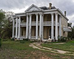 Abandoned, Texas fixer upper, with southern architecture, plantation style house, makes a beautiful home