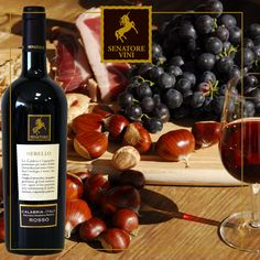 A bunch of grapes, hot #chestnuts, a glass of red #wine and the warmth of friends! #SenatoreVini