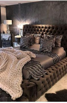 Bedroom Ideas For Couples Romantic, Bedroom Designs For Couples, Bedroom Ideas For Small Rooms Women, Small Bedroom Designs, Room Ideas Bedroom, Bedroom Furniture, Dark Furniture, Room For Couples, Bedroom Decor Master For Couples