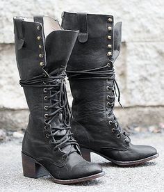 Freebird by Steven Grany Boot - Women's Shoes in Black Lace Combat Boots, Tall Lace Up Boots, Black Lace Boots, Roxy Shoes, Me Too Shoes, Women's Shoes, Fall Shoes, Black Army Boots, Bellatrix