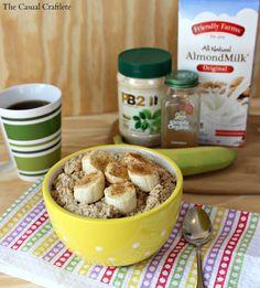 PB2 Oatmeal with Almond Milk