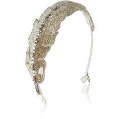 Jenny Packham Feather Headband ($510) ❤ liked on Polyvore