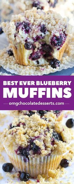 Muffins With Streusel Crumb Topping My favorite breakfast idea ? Blueberry muffins recipes is amazing breakfast recipe to start your day.My favorite breakfast idea ? Blueberry muffins recipes is amazing breakfast recipe to start your day. Little Muffins, Mini Muffins, Delicious Desserts, Yummy Food, Amazing Dessert Recipes, Gourmet Desserts, Easy Delicious Recipes, Plated Desserts, Think Food
