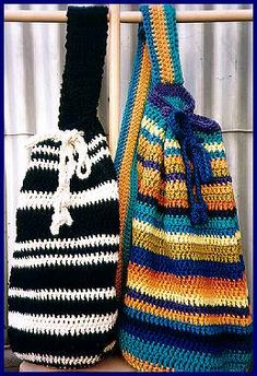 Crystal Palace Monterey Cotton Crochet Tote Bags