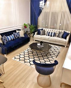 News On Navy Blue And White Living Room Decor Revealed 86 - athomebyte Home Room Design, Interior Design Living Room, Living Room Designs, Design Homes, Design Bathroom, Blue Living Room Decor, Home Living Room, Sofa Design, Design Furniture