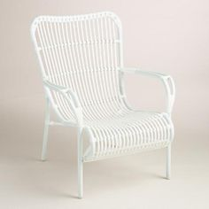 One of my favorite discoveries at WorldMarket.com: White All-Weather Wicker Hanalei Armchair, Set of 2