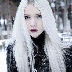 Gothic Girls, Hot Goth Girls, Anastasia, Petty Girl, Goth Model, Goth Look, Goth Beauty, Platinum Hair, White Blonde