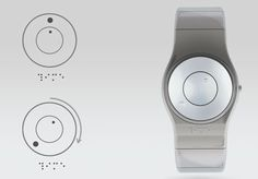 'tact' braille watch by julien bergignat