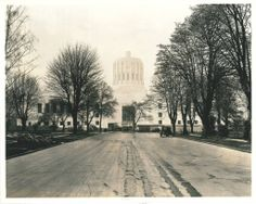 1938 construction of Oregon State Capitol Building from Oregon State Archives.