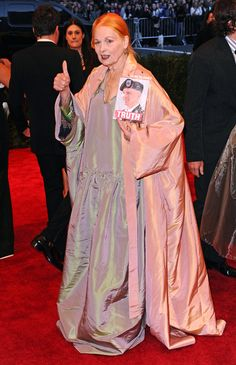 """Vivienne Westwood.  """"At 72 she is far more punk than people half her age, and half her mind."""""""