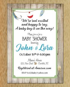 Fishing Baby Shower Invitation Sold By MacAnne Designs. Shop More Products  From MacAnne Designs On Storenvy, The Home Of Independent Small Businesses  All ...
