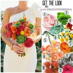 Exotically Vibrant DIY Bouquet   AllFreeDIYWeddings.com