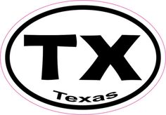 3in x 2in Oval Texas Sticker Vinyl State Car Truck Vehicle Bumper Stickers