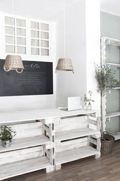 JJ: love the use of upcycled materials.  A little too country-ish with those lampshades though :)