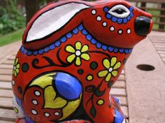 Mexican Sugar Skull Rabbit Purple Red Blue White Black Upcycled, Used Ornaments & Figurines For Sale in Portarlington, Laois, Ireland for euros on Adverts. Red White Blue, Black, Sugar Skull, My Design, Rabbit, Mexican, Purple, Projects, Art