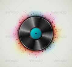 Vinyl Record by _Lonely_ Vinyl record, music background. Illustration contains transparency and blending effects, eps 10