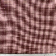 CCW6-29- Wine Homespun Basic Check Fabric