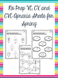This product contains 24 vowel-consonant (VC), consonant-vowel (CV), and consonant-vowel-consonant (CVC) combination sheets for students to practice their sound productions! Speech Pathology, Speech Therapy Activities, Speech Language Pathology, Speech And Language, Toddler Activities, Therapy Tools, Therapy Ideas, Childhood Apraxia Of Speech, Cv Words