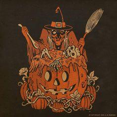 Image Halloween, Halloween Artwork, Halloween Icons, Retro Halloween, Halloween Poster, Halloween Prints, Halloween Pictures, Halloween Season, Halloween Horror
