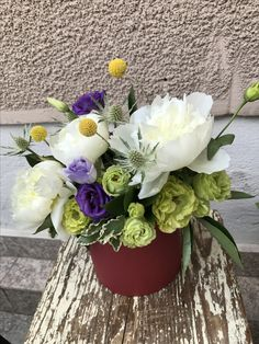 Flowers in a box! Special gift delivery by Gift Delivery, Flower Boxes, Flowers, Special Gifts, Flower Arrangements, Floral Wreath, Wreaths, Table Decorations, Green