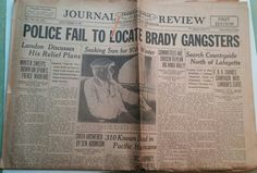 Gangsters. Police looking for the Brady gang in Indiana in 1936