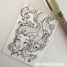 Credit to artist Pencil Art Drawings, Art Drawings Sketches, Cartoon Drawings, Cartoon Art, Cute Drawings, Doodle Drawing, Doodle Art, Painting & Drawing, Pretty Art