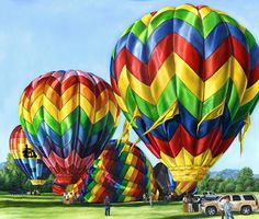Colorful Hot Air Balloon Notecard