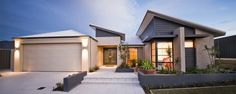 Skillion Roof House Design A Double House Roof, Facade House, Modern Exterior, Exterior Design, Brisbane, Melbourne, House Plans Australia, Modern Villa Design, Storey Homes