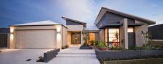 Skillion Roof House Design A Double House Roof, Facade House, Modern Exterior, Exterior Design, Brisbane, Melbourne, House Plans Australia, Modern Villa Design, Storey Homes