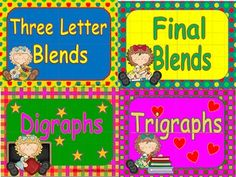 This is a quick and fun way to introduce blends, digraphs, and trigraphs.  This package contains 7 power points and a set of posters.The powerpoints introduce the _l blends, s_ blends, _r blends, final blends, three letter blends, digraphs, and trigraphs.  7 colorful posters can be printed for reinforcement.