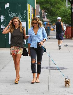 Jessica Hart — Out and about with her sister Ashley Hart in New York City — July 28, 2014 #JessicaHart