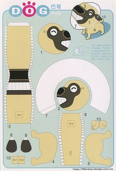 Pug - Cut Out Postcard | Flickr - Photo Sharing!