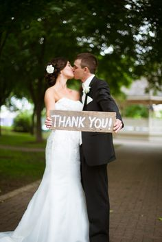 Photo used for wedding thank you's