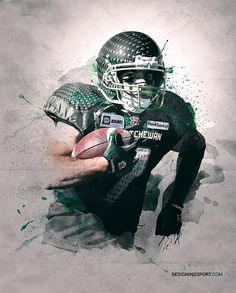 CFL: 'Scratch' Digital Illustration Series on Behance Football Images, Football Art, Football Helmets, Canadian Football, American Football, Go Rider, Football Reference, Saskatchewan Roughriders, Sports Marketing