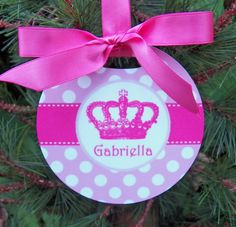 Personalized Princess Ornament  Two Sided by ThatPartyChick, $15.00