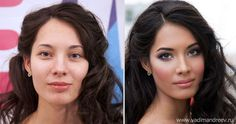 While some artists have mastered the Photoshop brushes to give some of their models a much needed face or eye lift, Russian artist Vadim Andreev uses those from the make-up artist kit.  Using only cosmetics, Vadim transforms women into stunning cover girls, and can do an equally good job with carnival make-up as well.