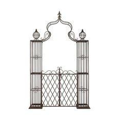Safavieh PAT5012 Beatrix Iron Arbor Rustic Brown Outdoor Living Arbor ($392) ❤ liked on Polyvore featuring home, outdoors, outdoor decor, arbor, garden decor, outdoor living, rustic brown, outside garden decor, rustic garden decor and outdoor garden decor