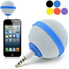 Portable Roundness Style 3.5mm Speaker for iPhone / Samsung / HTC / Nokia - Assorted Color