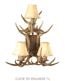 Coues Antler Wall Sconce - Dbl Tier (Pair)