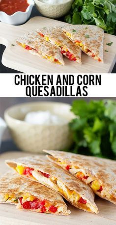 Mouthwatering Skinny Chicken and Corn Quesadillas.  An explosion of flavor that will have you coming back for more.  www.livelaughrowe.com