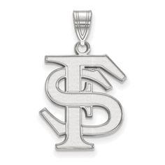 925 Sterling Silver Rhodium-plated Laser-cut Ohio State University Slip-on Bangle Bracelet 7