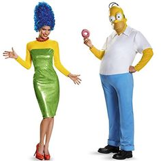 Everyone's favorite 90's cartoon couple comes to life in this Homer and Marge Simpson Couples Costume. All eyes will be on you.