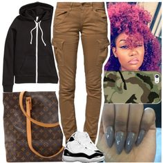 A fashion look from August 2016 featuring H&M jackets, G-Star Raw pants and Louis Vuitton tote bags. Browse and shop related looks.