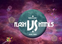 Flash VS HTML is an HTML5 study of the current landscape for creating gaming and rich interaction, presenting Flash  HTML iterations of the same game. It uses a custom 2D webGL renderer...