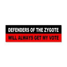 Republican anti-abortion Car Magnet 10 x 3 on CafePress.com