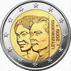 2 Euro Commemorative Coins Luxembourg 2009, 90th Anniversary of Grand Duchess Charlotte's Accession to the Throne.