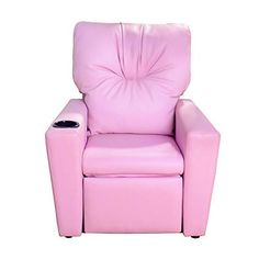 Contemporary Deluxe Kids Recliner Mini Sofa Pink Armchair Couch Children PU Lounge Chair Living Room Bedroom Home Furniture w/Cup Holder >>> Proceed to the product at the image link. (This is an affiliate link).